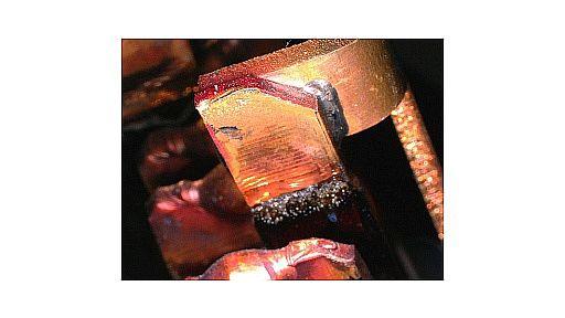 Hard soldering of nonferrous metal part